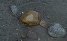 Ocean sand and rocks
