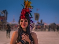 I happened upon Emily as she was enjoying the spectacular sunset at Burning Man 2017.